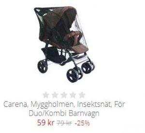 myggnät barnvagn